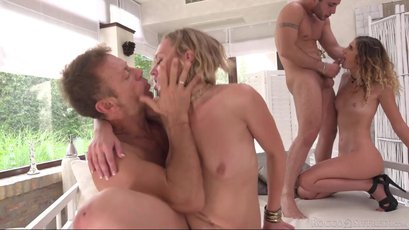 Libeta Black and Candice Demellza in 4some orgy