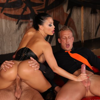 Aletta Ocean teasing and getting DPed by two Guys
