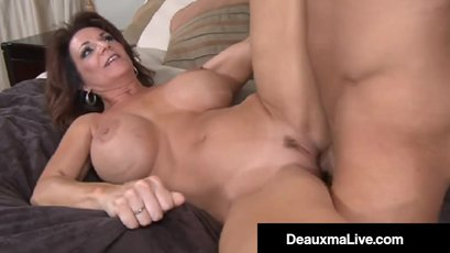 Busty Deauxma getting screwed by younger guy