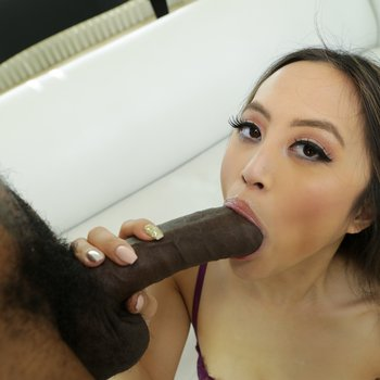 Lovely babe Alexia Anders rides massive black dong