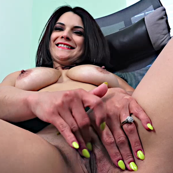 Slutty Mio Moore strips down and fingers her tasty pussy