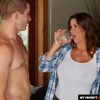 Naughty  MILF Alexis Fawx thanks son's best friend by fucking him