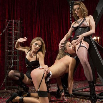 Mona Wales and Cherry Torn having fun with subgirl