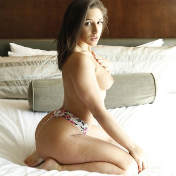 Abella Danger strips and shows off her body