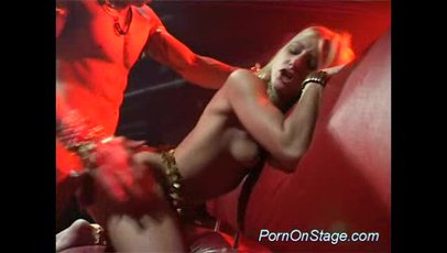 Live blowjob and hardcore given by blonde cutie