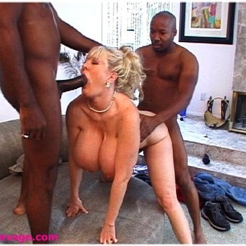 Kayla Kleevage fucking with 2 black guys at once