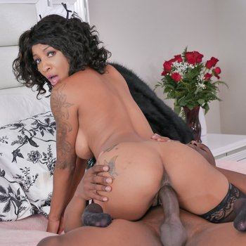 Hot maid September Reign rides on a BBC