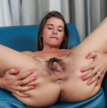 Bunny Freedom spreads her legs and shows bush