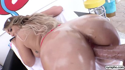 Naughty Kayley sucking cock and swallowing cum