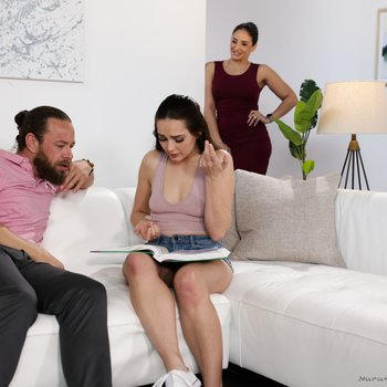 Aften Opal and Sheena Ryder in 3some massage sex session
