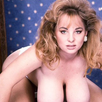 Rhonda Baxter shows her big boobs and hairy twat