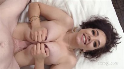 Raya from Exploited College Girls gives boobjob