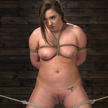 Maddy O'Reilly enjoys double drilling in bondage