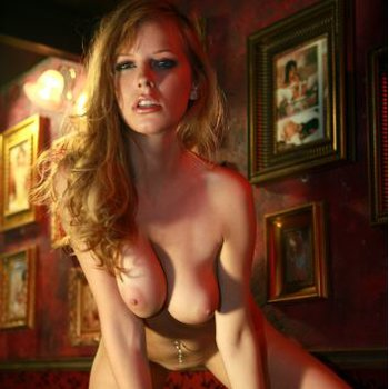 Carmen Kees at a bar showing amazing boobies