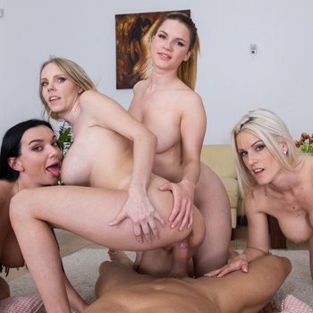 Lady Gang and other girls love riding a dick in POV
