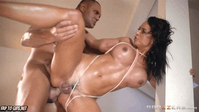 Brunette babe getting assfucked by a big cock