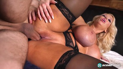 Busty MILF Alura Jenson tit fucked and pounded