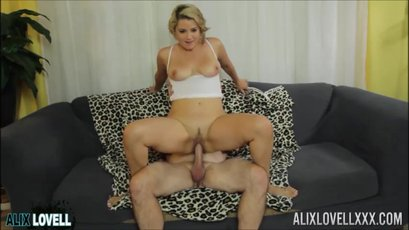 Blonde hottie Alix Lovell getting fucked in different poses
