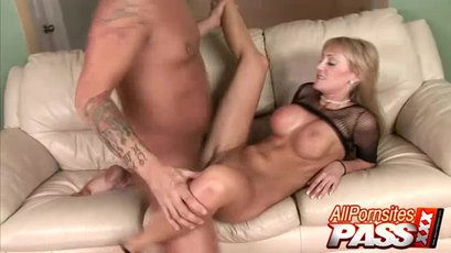 Blonde milf with rock solid tits is screwed hard