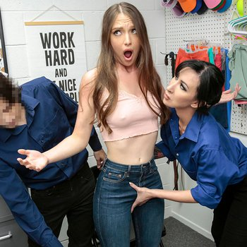 Lily Lane catches sexy shoplyfter Izzy Lush