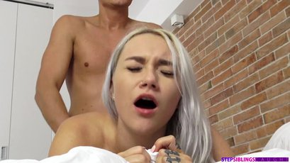Marilyn Sugar strips for her stepbro and fucks him