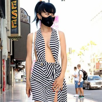 Bai Ling sexy on the Hollywood Walk of Fame