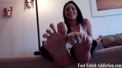 Danica Logan loves to tease with her pretty feet