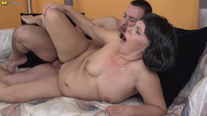 Curvy housewife spoon fucked by her toy boy