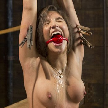 Abella Danger bound in rope, toyed and spanked to hot orgasms