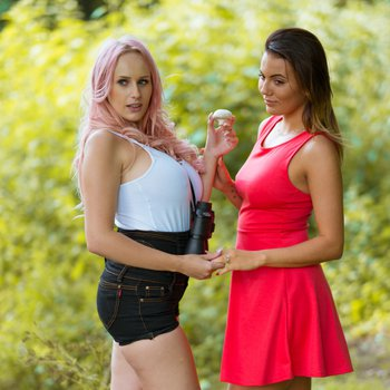 Vanessa Decker and her lesbo Lover fuck Outdoors