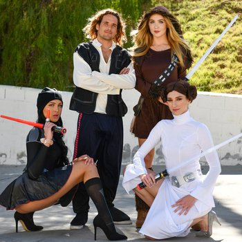 Mila Monet, Andi Rose & Nikole Nash cosplay orgy